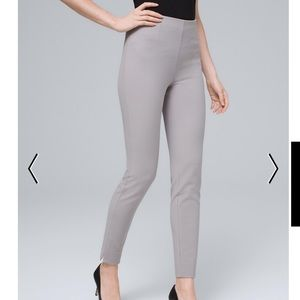 Comfort Stretch Flat-Front Skinny Ankle Pants
